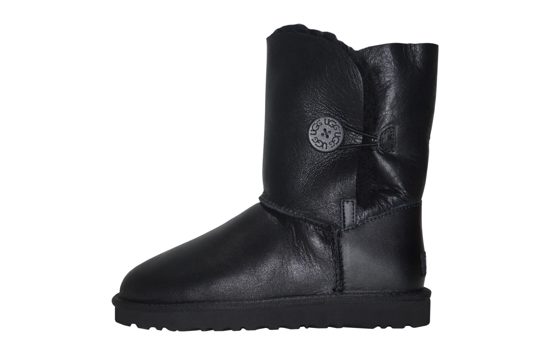 Timberland и Ugg Australia оптом без размерных рядов! Uggi-ugg-australia-bailey-button-leather-black-blk